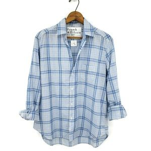 Frank & Eileen The Eileen Shirt Blue Plaid Blouse